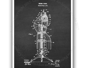 Back to School Fashion Designer Wall decor Fashion wall art unframed Dress Form invention diagram Dress Form patent print#5