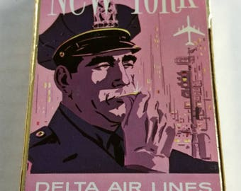 "Vintage Delta Airlines ""Police"" New York City Playing Cards"