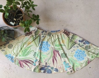 Succulent Patch All-Over Print Skater Skirt