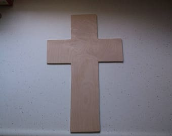 "Wooden Cross, Large Cross Shape, Craft Wood, Churches, Religious Cross, Craft Supplies, VBS - 17"" x 10 3/4"""