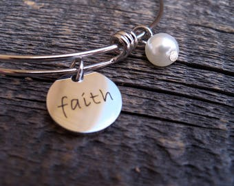 LDS YW Theme 2017 Ask In Faith Bangle James 1: 5-6 2017 Mutual Theme