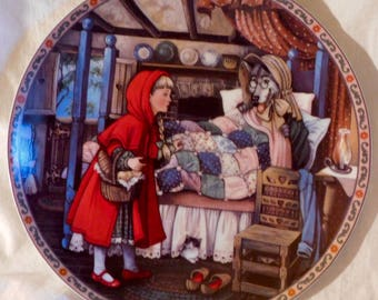 Little Red Riding Hood Once Upon a Time Series by Karen Pritchett Knowles Fine China Collectors Plate