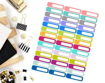 Blank Mini Label Stickers! Perfect for your Erin Condren Life Planner, calendar, Paper Plum, Filofax!