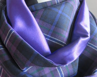 Alba gu brath! Scotland Forever. A pure wool Scottish tartan bridal or evening stole.  Hand made in the UK. 1 Ready to ship!