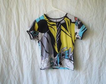 SALE 90s Pop Art Print T-Shirt