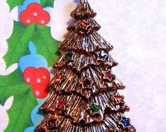 30% Off BOOK Piece B.J. Vintage Christmas Tree with Rhinestone Pin - Beatrix Bj