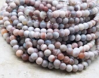 5 mm, Botswana Agate Smooth Round , 16 Inch