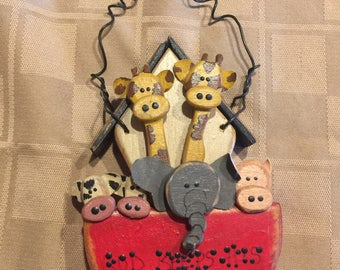 Noahs Ark Wooden Ornament