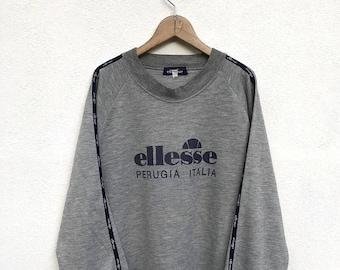 "20% OFF Vintage Ellesse Big Logo Sweatshirt / Casual Shirt / Ellesse Sweater / Ellesse Tennis Shirt / Ellesse Sportwear / Armpit 22"""