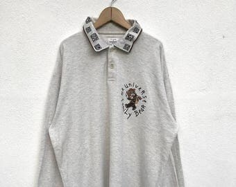 "20% OFF Vintage Castelbajac Long Sleeve Polos Shirt / Charles de Castelbajac Sweater / Armpit 25"""