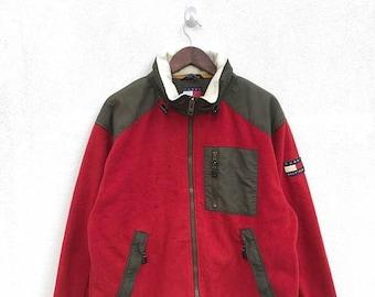 20% OFF Vintage Tommy Hilfiger Colorblock Fleece Jacket,Tommy Big Logo,Tommy Sailing Gear