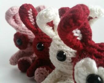 Mini Valentine Bunny Amigurumi Crochet Stuffed Toy