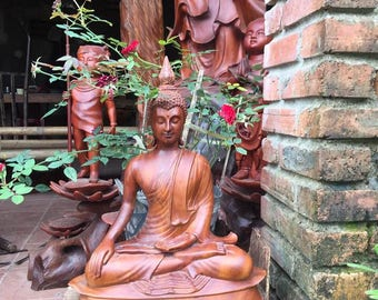 Thailand Wooden Buddha Statue: Sakya Buddha