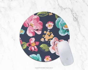 Floral Mousepad Round Mousepad Rectangle Mouse pad Beautiful Design Floral Mouse pad Cute gift Mousepad 2