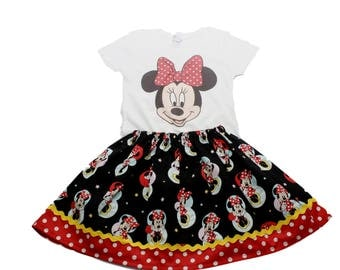 Gil Minnie birthday outfit Girl Minnie dress Girl Minnie skirt  shirt Girl Minnie dress Girl Minnie clothes Girl Minnie outfit Girl Minnie