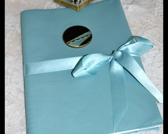 Travel or turquoise leather design book