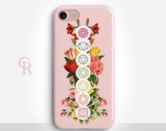 Chakra iPhone X Case For iPhone 8 iPhone 8 Plus - iPhone X - iPhone 7 Plus - iPhone 6 - iPhone 6S - iPhone SE - Samsung S8 - iPhone 5