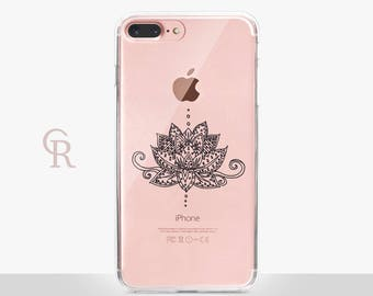 Lotus iPhone X Clear Case - Clear Case - For iPhone 8 - iPhone X - iPhone 7 Plus - iPhone 6 - iPhone 6S - iPhone SE Transparent - Samsung S8