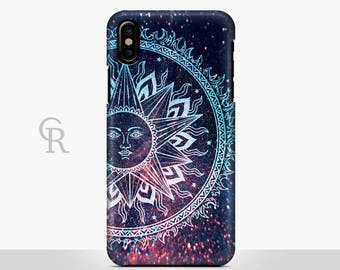 Sun Phone Case For iPhone 8 iPhone 8 Plus - iPhone X - iPhone 7 Plus - iPhone 6 - iPhone 6S - iPhone SE - Samsung S8 - iPhone 5 Boho