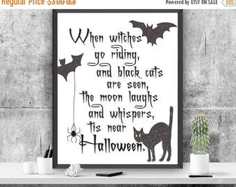 SALE Halloween Art Print Halloween Decor Printable Card 5 x 7 Greeting Card Gift Instant Download Printable Art Halloween Art Print Autumn C