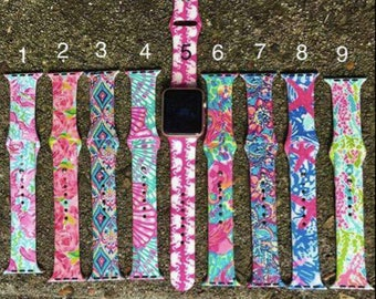 Lily inspired Apple Watch Bands, 42mm and 38mm, new shipment in stock, 9 patterns, 2 sizes, great price 16.99, Apple Watch Bands