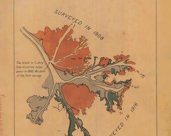 Mississippi River Delta Map - 1917