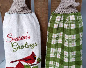 Christmas Hanging Kitchen Towel Set, Kitchen Dish Towels, Dish Towels, Hand  Towel With