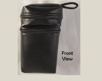 Faux Leather CCG Card and Dice Bag Divided Sectioned Pouch MTG Box Holder D&D RPG Role Playing Die Section Collectible Card Game Pleather