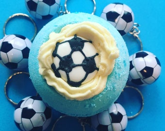 Football Bath Bomb, Boys Bath Bomb, Surprise Bath Bomb, Birthday Gift, Christmas Bath Bomb, Christmas Gift, Xmas Bath Bomb, StockingFiller