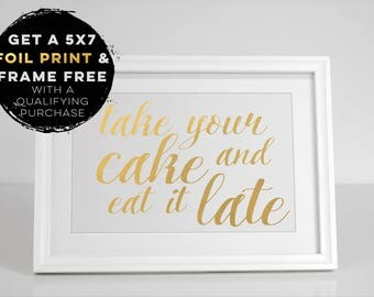 Gold Foil Dessert Sign, Wedding Sign, Favor Sign, Cake Boxes, Mr and Mrs, Wedding Favors, Dessert Bar, Candy Bar, Dessert Sign, Treats