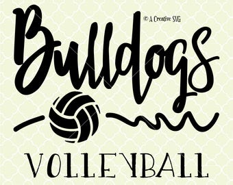 Bulldogs Volleyball SVG DXF Files for Cricut Design, Silhouette studio.