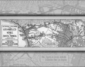 Poster, Many Sizes Available; Automobile Boulevards From Los Angeles To Venice And Santa Monica, 1914 (Aaa-Sm-003439)
