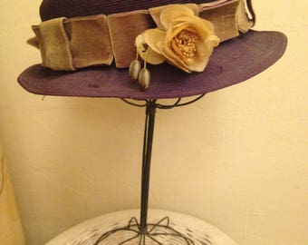 Cute '30s Purple Hat