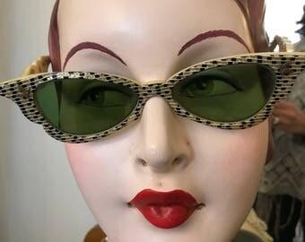 Vintage glamorous celluloid '50s sunglasses