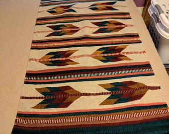 Southwestern hand woven rug