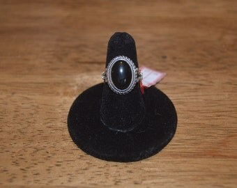 Black Onyx and Sterling Silver ring