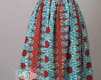 READY TO SHIP-African print Maxi skirt,high waist skirt,Ankara Maxi skirt