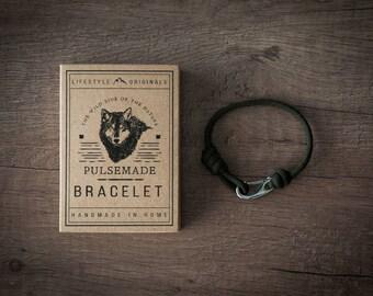 Men - Woman bracelet Paracord 550 Pulsemade Collection Slim, unisex bracelets, for men, for woman, steel little hook clasp