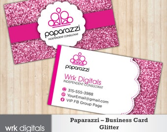Paparazzi Business Card, Glitter Design, Customized Business Card, Direct Sales, Consultant Business Card, Paparazzi Jewelry