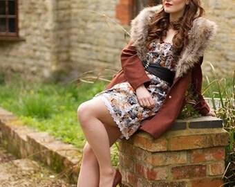 Vintage strapless dress Size 8/10