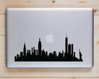 New York City Skyline Decal-Laptop Sticker-MacBook Sticker-New York City Sticker-New York City Decal