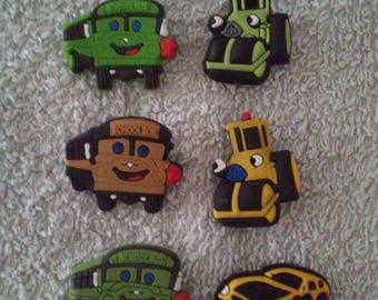 Lot 6 jibbitz (badges for fangs)