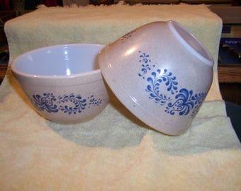 Pyrex Homestead 401 Mixing bowls