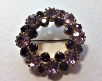 Vintage Brooch, Purple Brooch, Lilac Brooch, Vintage Wedding, Circa 1940
