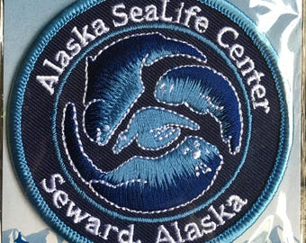 Alaska SeaLife Center Seward Alaska Vintage Souvenir Travel Patch