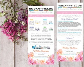 PRINTABLE Rodan and Fields Business Opportunity Flyer and Product Cards, Rodan and Fields Brochure RF025