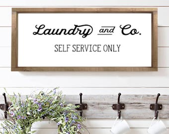 Laundry|Wood Sign
