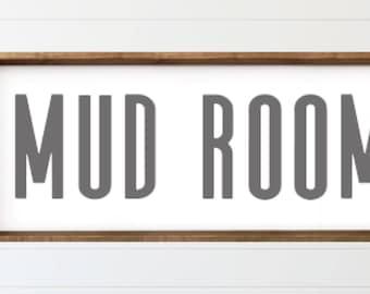 Mud Room|Wood Sign