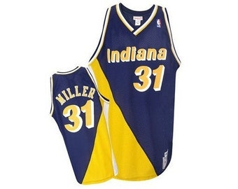 Reggie Miller #31 Indiana Pacers Throwback Jersey (S/M/L/XL/XXL) All Sewn/Stitched!