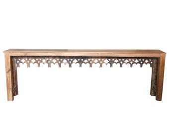 Large Toran Farmhouse Console Table, Console Table, Long Console Table,  Wood Rustic Table